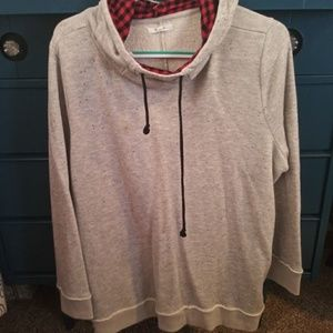 Maurices Sweaters - Grey Sweater with Buffalo Plaid